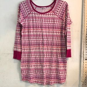 VS Waffle Knit Sleep Shirt nightgown winter Large